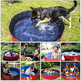 Fuloon PVC Pet Swimming Pool Portable Foldable Pool Dogs Cats Bathing Tub Bathtub Wash Tub Water Pond Pool Pet Pool & Kiddie Pools for Kids in The Garden