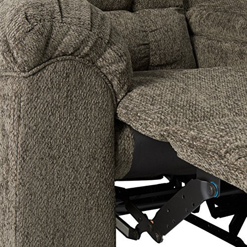 Ashley Furniture Signature Design - Acieona Recliner Loveseat with Console - Pull Tab Manual Reclining - Slate Gray