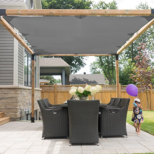 TOJA GRID SA41012GR13 System for 4x4 Wood Posts Modular Pergola, Black