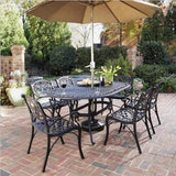 Biscayne Black 7-Piece Outdoor Dining Set by Home Styles