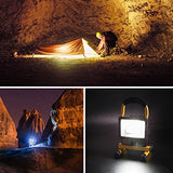 Hallomall [15W 24LED] Spotlights Work Lights Outdoor Camping Lights, Built-in Rechargeable Lithium Batteries (with USB Ports to Charge Mobile Devices and Special SOS Modes) ...