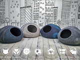 MEOWFIA Premium Felt Cat Bed Cave (Medium) - Handmade 100% Merino Wool Bed for Cats and Kittens (Light Grey/Medium)