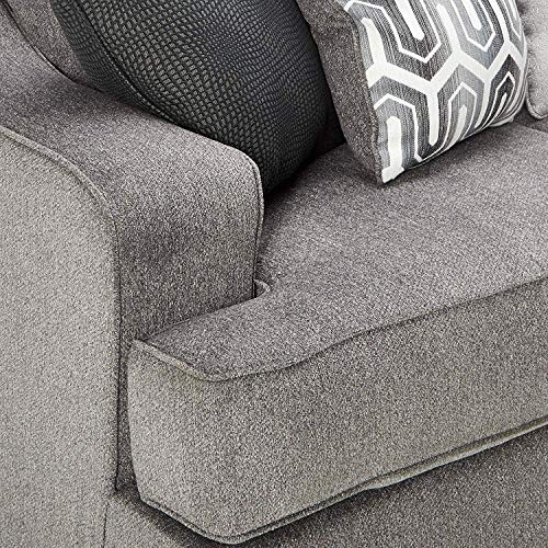 Ashley Furniture Signature Design - Gilmer Chenille Upholstered Queen Size Sleeper Sofa - Contemporary - Gunmetal