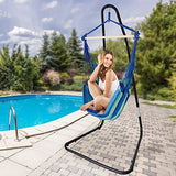 Sorbus Hammock Chair Stand for Hanging Chairs, Swings, Loungers, 330 Pound Capacity, Perfect for Indoor/Outdoor Patio, Deck, Yard (Adjustable Stand)