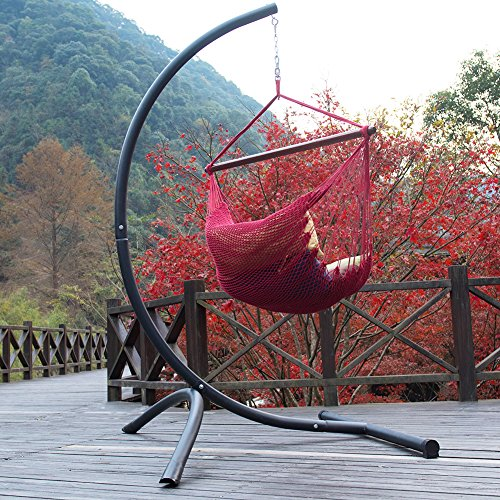 Lazy Daze Hammocks C Stand with Heavy Duty Coated Steel for Hammock Air Porch Swing Chair, 375 Pounds Capacity