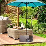 Abba Patio Base Patio Umbrella Stand with Two Wheels Steel Planter, 17.7L x 17.7W x 10.2H inch, Bronze