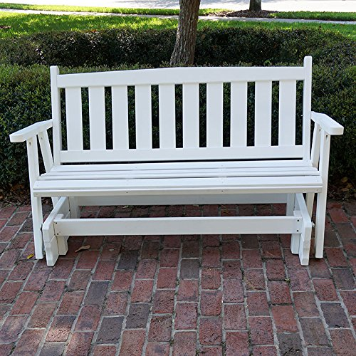 Porchgate Amish Made Mission White Porch Glider (4 Foot)