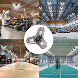 LED Garage Lights, 60W 6000LM Motion Activated LED Garage Ceiling Light Bulbs for Full Area, Adjustable Garage Lighting Fixtures Ceiling Led with Motion Sensor