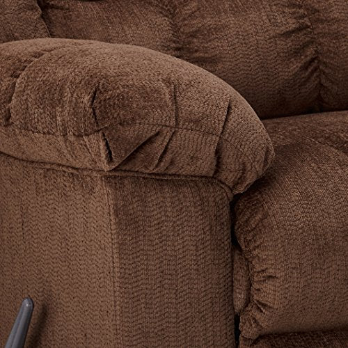 Ashley Furniture Signature Design - Ludden Rocker Recliner - 1 Pull Manual Reclining Sofa - Contemporary - Cocoa Brown
