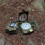 Eyeskey Waterproof Multifunctional Military Lensatic Compass Great for Hiking, Camping, Motoring, Boating with Pouch Camouflage