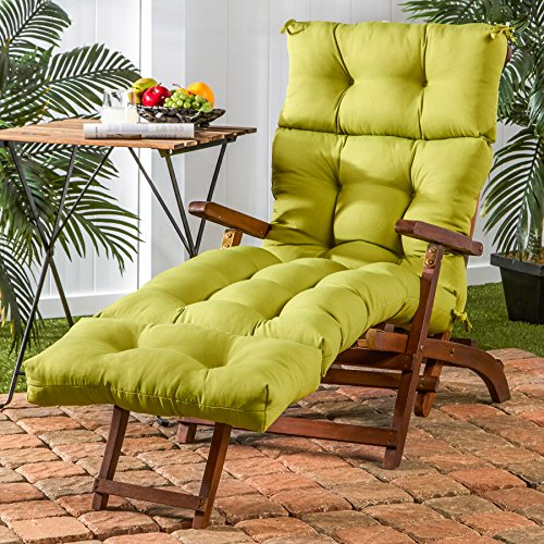 Greendale Home Fashions 72-Inch Indoor/Outdoor Chaise Lounger Cushion, Kiwi