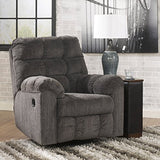 Ashley Furniture Signature Design - Acieona Recliner - Swivel Rocker - Pull Tab Manual Reclining - Slate
