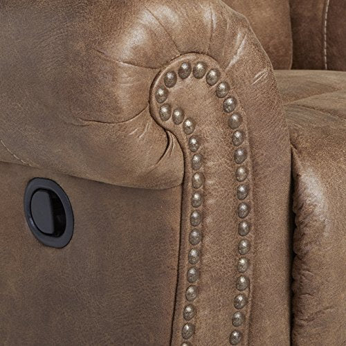 Larkinhurst Traditional Earth Rocker Recliner with Nailhead Trim