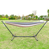 OnCloud Double Hammock with 9 FT Stand Space Saving Carrying Case (Desert Stripe)
