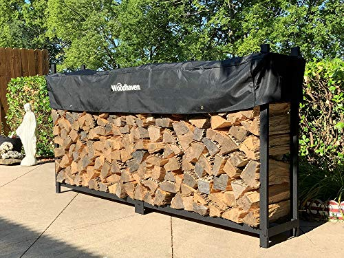 Woodhaven The 8 Foot Firewood Log Rack with Cover