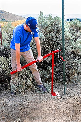 "RICE Hydro, Inc Heavy Duty Easy to Use Post Puller/Post Driver (Bundle T-Post Puller & 3"" Post Pounder)"