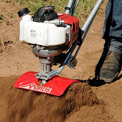 Schiller Grounds Care Mantis 7940 4-Cycle Tiller Cultivator Powered by Honda - Lightweight, Powerful and Compact - No Fuel Mix, Sure-Grip Handles - Built to Be Durable and Dependable