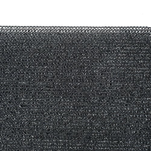 Shatex 90% Sun Shade Fabric for Pergola Cover Porch Vertical Screen, 8x15ft Black