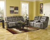 Ashley Furniture Signature Design - Rotation Recliner Sofa - Manual Reclining Couch - Smoke Gray