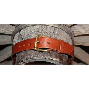 "1 1/2"" Unlined Belt Tan- Longer Buckle-Atomic 79"