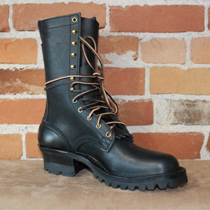 "10"" Forester Boot In Black Leather-Atomic 79"
