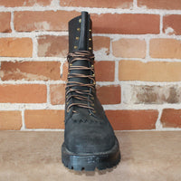 "10"" Lace-up Hotshot Firefighting Boot W/Roughout Toe Heel And Heavy Duty Construction-Atomic 79"