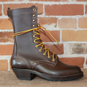 "10"" Lace-up Ranger Boot In Walnut Leather-Atomic 79"