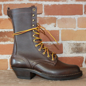 "10"" Lace-up Ranger Boot In Walnut Leather - Atomic 79"