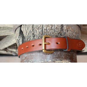 "1.25"" Unlined Brown Belt-Atomic 79"