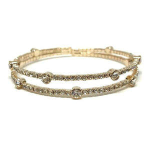 2 Row Gold Fill Crystal Bracelet-Atomic 79