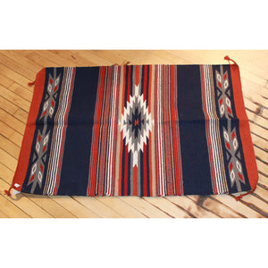 30x45 Acrylic Cantina Throw Rug in Blue Rust and Grey-Atomic 79