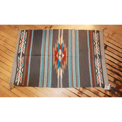 30x45 Acrylic Cantina Throw Rug in Grey and Light Blue-Atomic 79