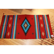 32x64 Acrylic Cantina Rug in Red and Turquoise-Atomic 79