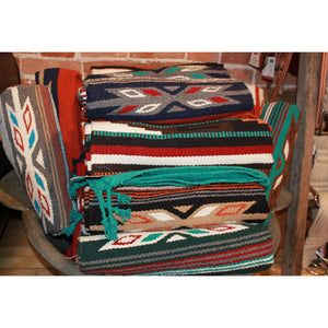32x64 Acrylic Cantina Rug in Turquoise, Red and Rust-Atomic 79