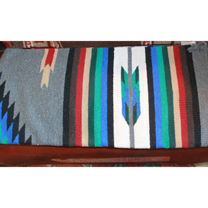 32x64 Grey and Turquoise Acrylic Cantina Rug-Atomic 79