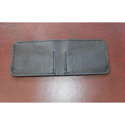 4-8 Leather Card Holder W/Bill Compartment in Black-Atomic 79
