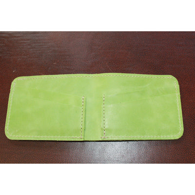 4-8 Leather Card/Bill Holder in Green-Atomic 79