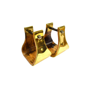"4"" Bell Stirrup in Yellow Brass-Atomic 79"