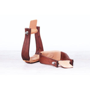 "5"" Duke Leather Bottom Stirrups-Atomic 79"