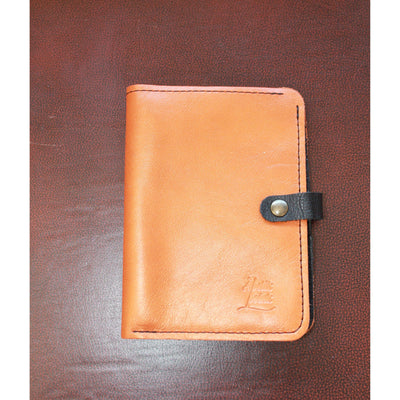 7 Card Master Wallets in Two Toned Orange and Black Leather-Atomic 79