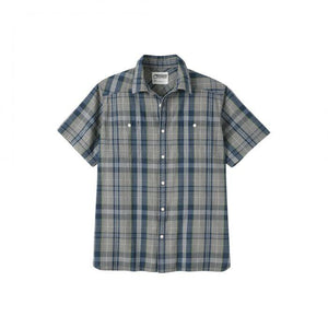 Ace Indigo Long Sleeve Shirt in Indigo Plaid-Atomic 79