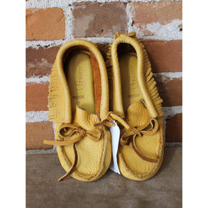 Adult Low Top Soft Bison Moccassins-Atomic 79