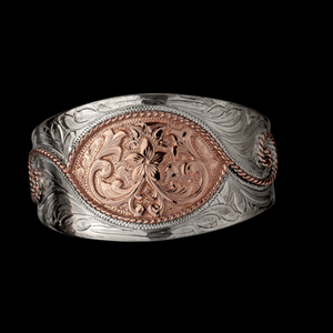 Antiqued Sterling and Copper Cuff-Atomic 79