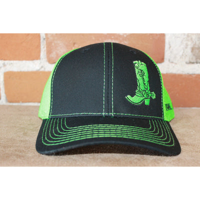 Atomic 79 Boot Black Shoot/Neon Green Mesh Hat in XL-Atomic 79