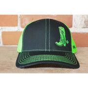 Atomic 79 Boot Black Shoot/Neon Green Mesh Hat Standard Size-Atomic 79