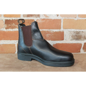 Blundstone Slip On Dress Boot in Stout Brown Leather-Atomic 79