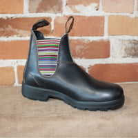 Blundstone Slip On W/Mulit Colored Elastic In Stout Brown-Atomic 79
