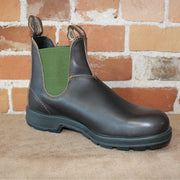 Blundstone Slip On W/Olive Green Elastic In Stout Brown-Atomic 79
