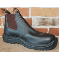 Blundstone Slip-on Work Boot W/Safety Ratings In Brown Oiled Leather-Atomic 79