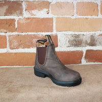 Blundstone Youth Slip On in Rustic Brown-Atomic 79